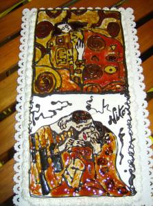 Ispirato al bacio e all'abbraccio di Klimt effettuato presso la mia ex gelateria